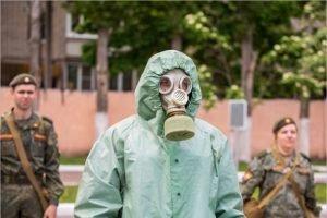 В Брянской области военные отработали ликвидацию последствий применения химоружия