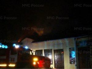 В Стародубе сгорел магазин на местном рынке