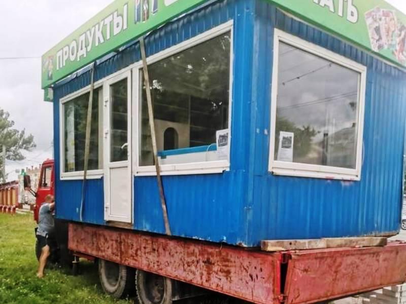 В Брянске оперативно убран очередной киоск «из 90-х» предпринимателя Дмитрия Барабанова