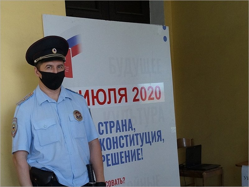 За порядком на общероссийском голосовании в Брянской области следили 3,5 тыс. полицейских