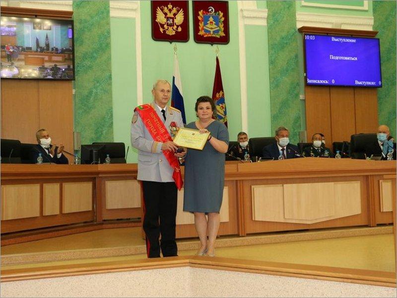 Главный саратовский полицейский дождался регалий Почётного гражданина Брянска через девять месяцев