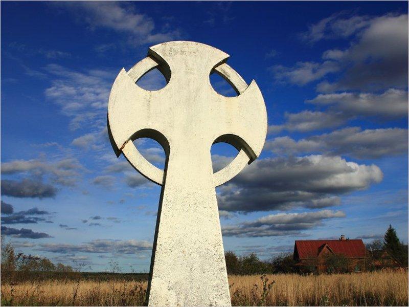 На древнем городище Вщижа повалили памятный крест