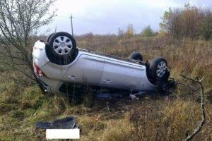 Под Трубчевском  водитель получил разрыв селезёнки после неудачного «сальто»