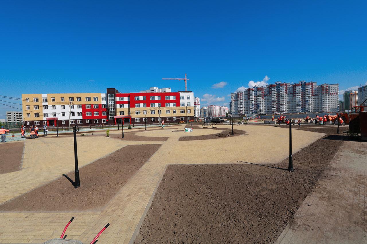 В Брянске на старом аэропорту заложен сквер площадь 2,5 тысяч кв. метров