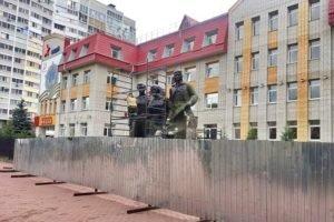 В Брянске начался ремонт памятника Трём героям
