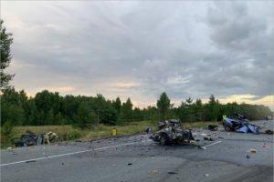 Страшное ДТП в Орловской области: взрыв машины, пятеро погибших на месте (ВИДЕО 18+)