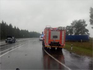 Смерть в ДТП: вылетевшая с трассы фура убила женщину-пешехода