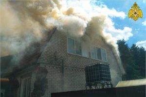 В Радице-Крыловке выгорел жилой дом. Жертв нет