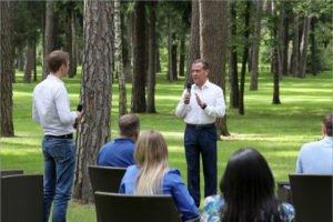Дмитрий Медведев обсудил с молодыми кандидатами от «ЕР» медицину, цифровое образование и экологию