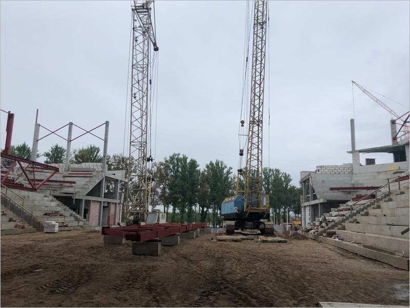 Работы по строительству Дворца единоборств в Брянске  ведутся при жёстком контроле качества – Хуснуллин