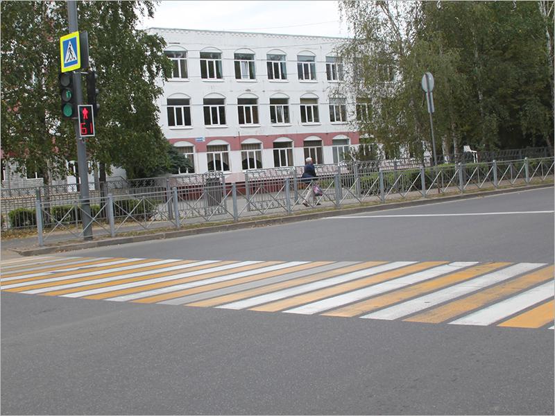 «Дорога к школе» в Брянске: ограждения и разметка появились на положенных местах