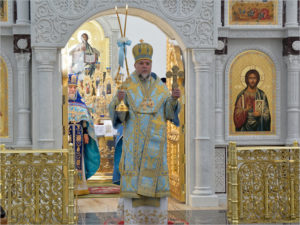 В новом кафедральном соборе в Клинцах прошло первое соборное богослужение
