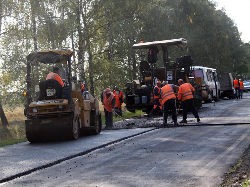 Ремонт запланированных участков дороги Стародуб-Климово завершается досрочно
