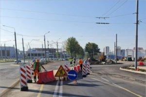 У строящегося Дворца единоборства в Брянске изменена схема движения транспорта