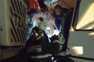 В Севске рейсовый автобус врезался  в КамАЗ. Есть пострадавшие