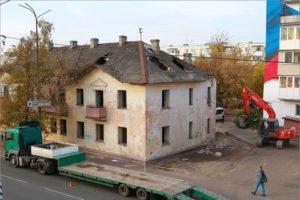 Завершение сноса проблемного дома по проспекту Московскому намечено на субботу