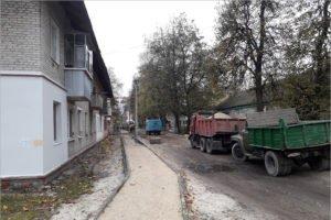 В Брянске впервые в истории появится асфальт на улице Мало-Орловской
