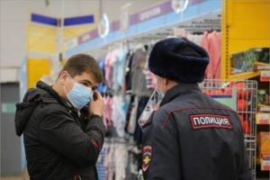 В России начался режим обязательного ношения медицинских масок