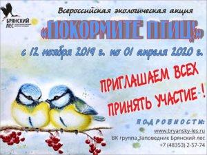 Заповедник «Брянский лес» призывает кормить птиц. До 1 апреля