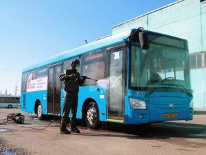 Брянский транспорт дезинфицируют силами МЧС три раза в неделю