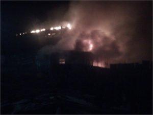 В ночном пожаре в Дятьково погибли двое молодых мужчин