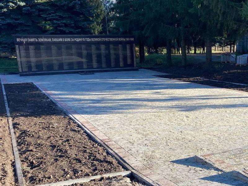 В карачевской деревне Масловка готовятся к открытию мемориала погибшим на войне
