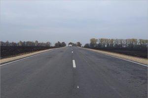 В Трубчевском районе завершена реконструкция двух дорог, не знавших ремонта 40 лет