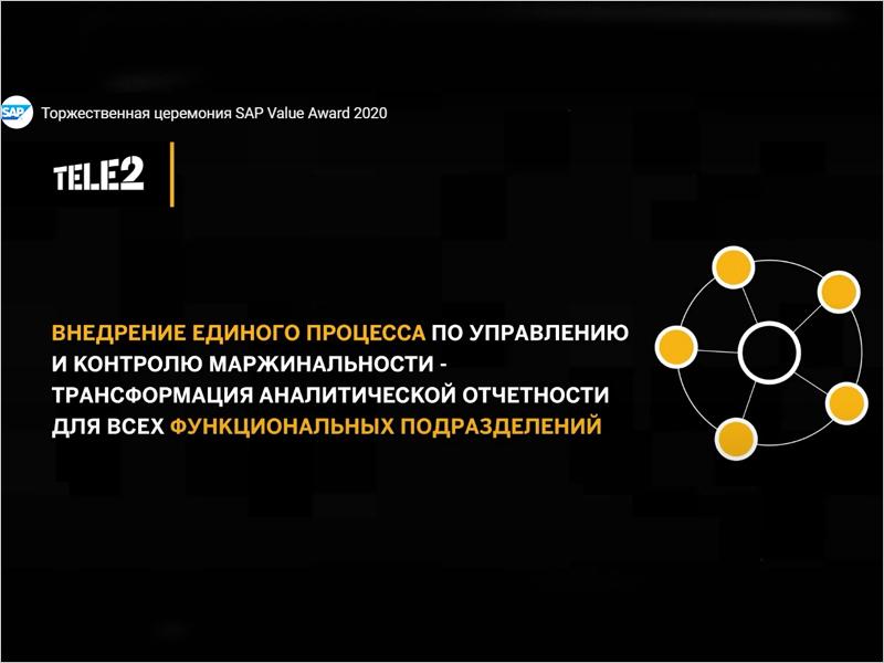 Tele2 выиграла платиновую награду SAP Value Awards с проектом по управлению маржинальностью