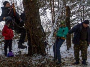Брянские туристы потоптали первый снег на «Вольном ветре»
