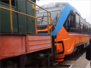 Повреждённый пассажирский рельсобус под Брянском пришлось вытягивать локомотивом