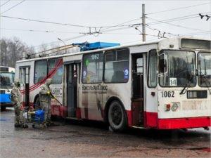В Брянске в очередной раз продезинфицированы все рабочие троллейбусы