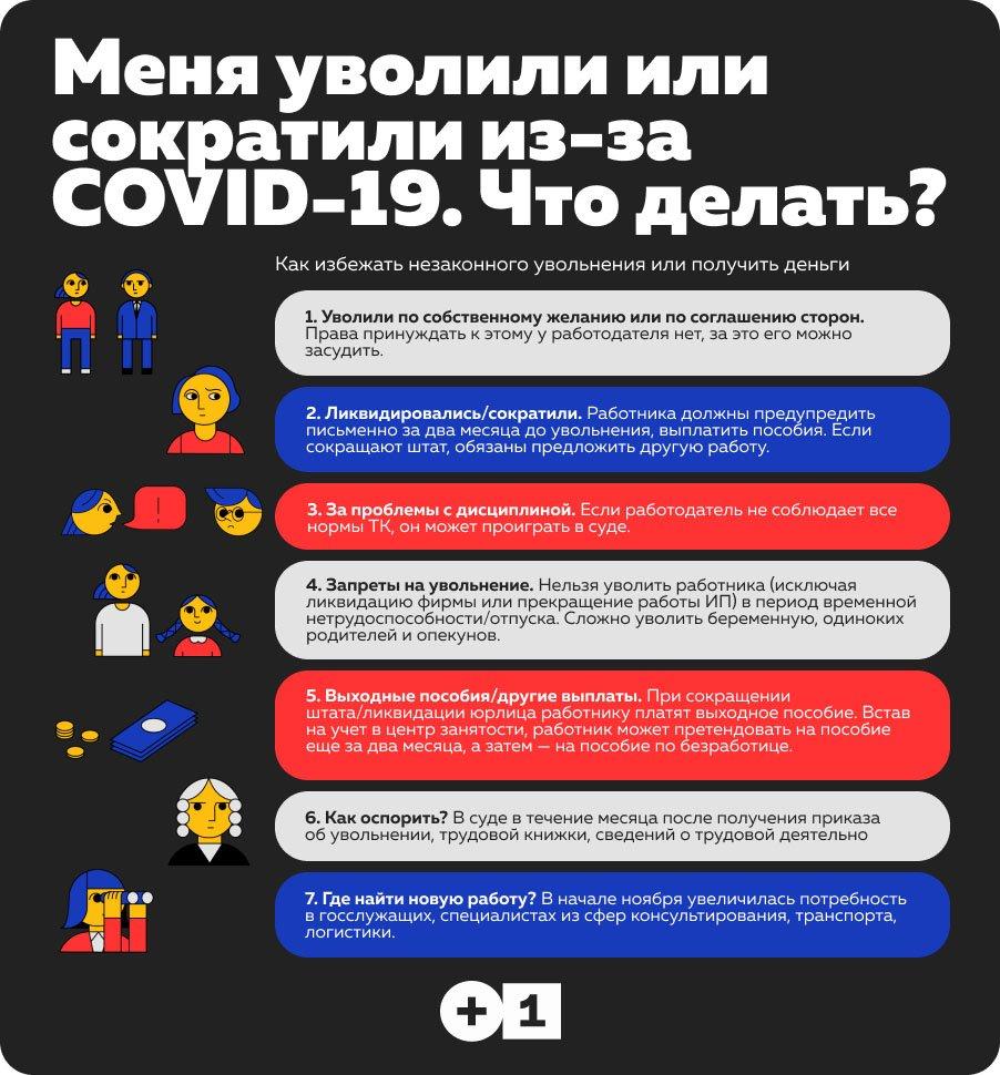 Меня уволили или сократили из-за COVID-19. Что делать?