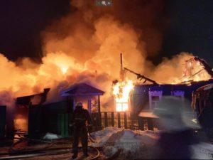 В Сельцо сгорел жилой дом, жертв нет