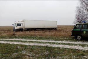 Брянские пограничники тормознули на границе фуру нелегального мяса из Белоруссии