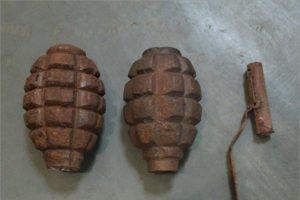 В Новозыбкове на улице найдены гранаты времён войны