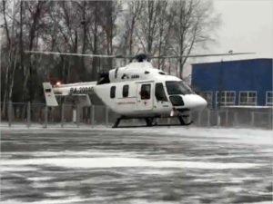 Брянский вертолёт санавиации совершил первый рейс по прямому назначению