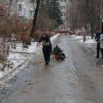 Брянские власти пытаются бороться с ледяным дождем и гололедицей