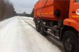За сутки брянские дорожники очистили от снега  более 4 тысяч километров автотрасс