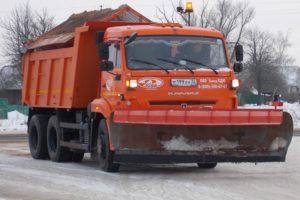 Снегопад в окрестностях Брянска: на дороги высыпаны тысячи тонн песко-соляной смеси