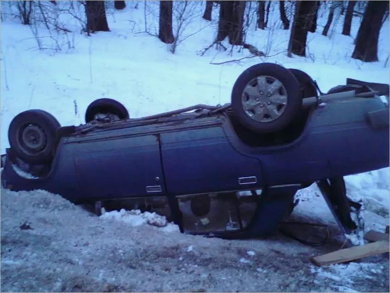 Пожилой водитель перевернулся на «пятёрке» под Трубчевском