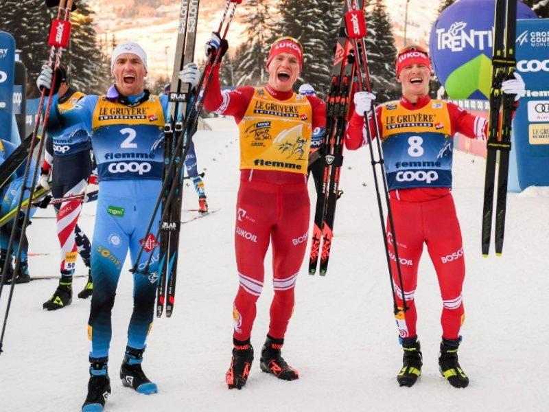 Александр Большунов выиграл многодневку «Тур де Ски», ни разу не выпав из тройки лидеров
