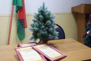 В центре Брянска управляющие компании наградили за новогоднее настроение жителей