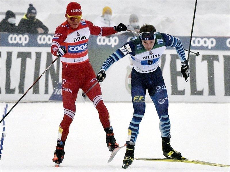 Александр Большунов получил штраф и испытательный срок за инцидент с финским лыжником-провокатором
