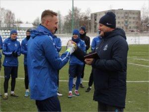 Вратарь брянского «Динамо» получил приз от болельщиков