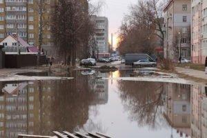 Брянские власти пообещали справиться с легендарной лужей по улице Медведева