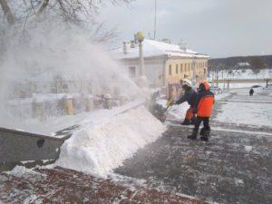 С улиц Брянска вывезли более трёх тысяч тонн снега