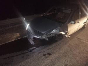 В результате столкновения иномарок в Севском районе пострадали женщина и маленький ребёнок