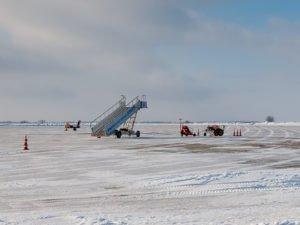 Из-за сильного снега задержаны рейсы из Краснодара и Казани