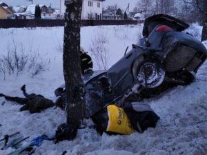 В тройном ДТП под Брянском погиб водитель легковой иномарки