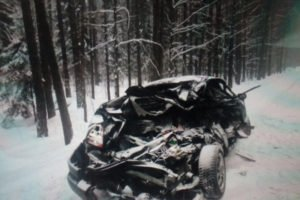 В результате столкновения грузовика и лекговушки под Брянском госпитализирована женщина